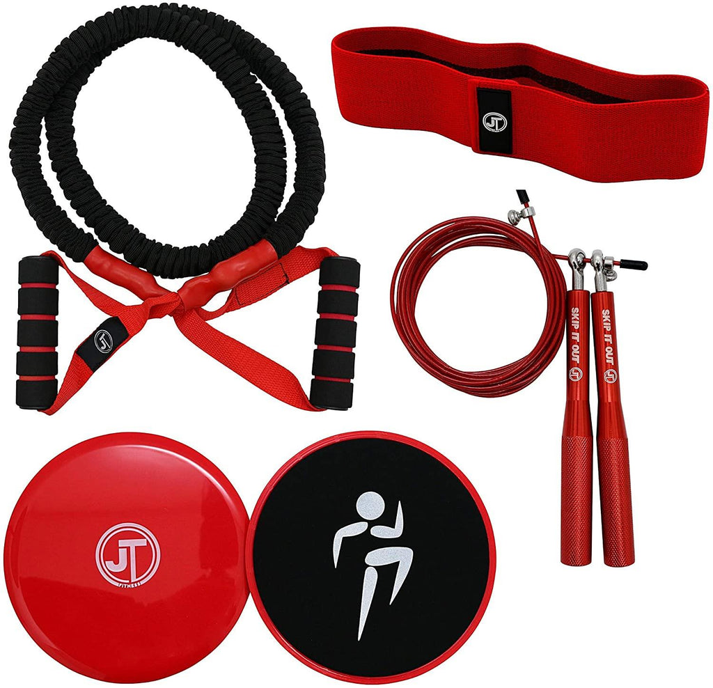 JT Fitness Booty Band Belt,Resistance Band for Legs & Glutes Fitness Band Red