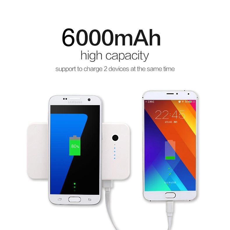 Qi Charger and Power Bank (2 in 1) 6000 mAh Using The Latest Technology