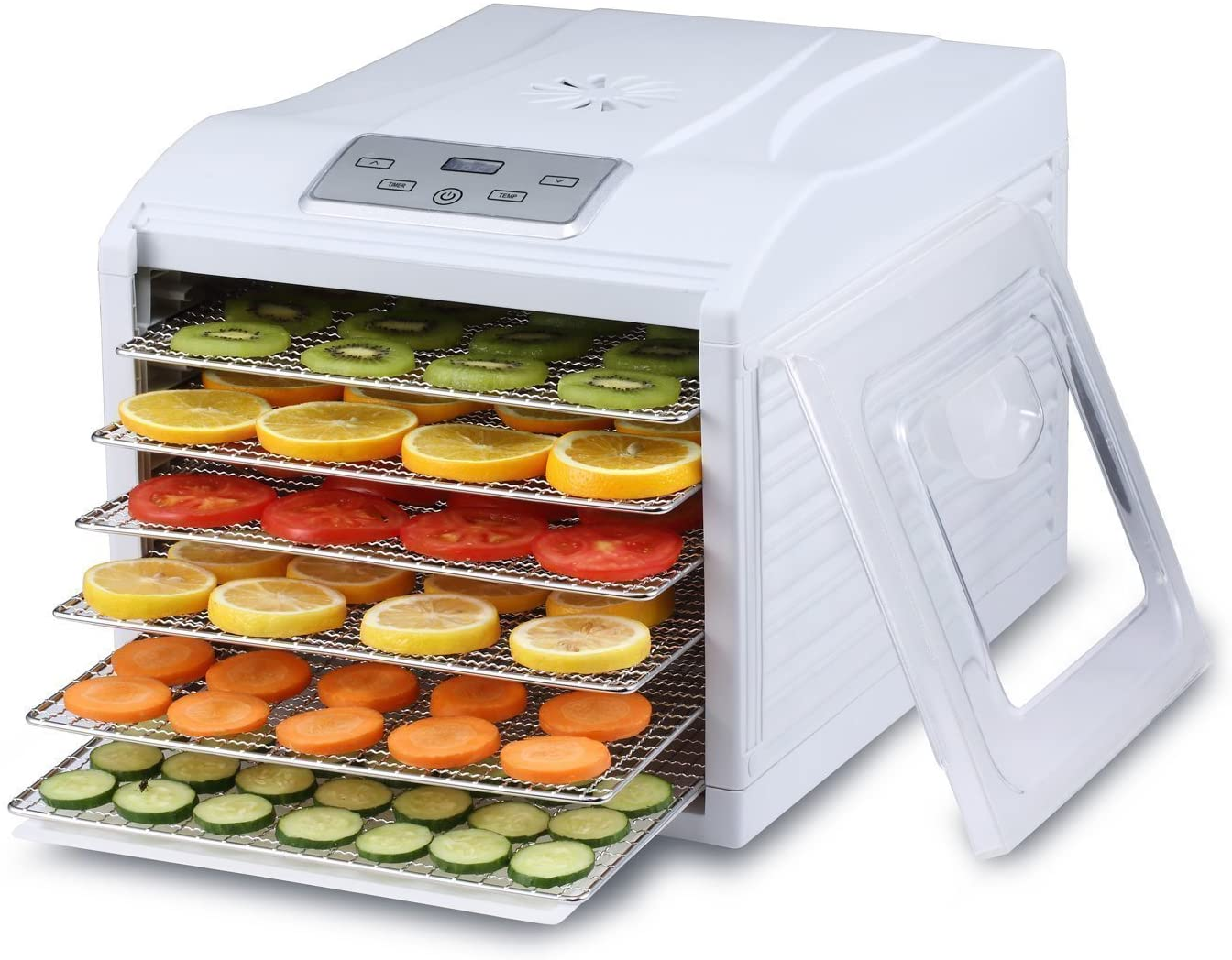 6 Tray Food Dehydrator with Digital Display - smrt-life.com