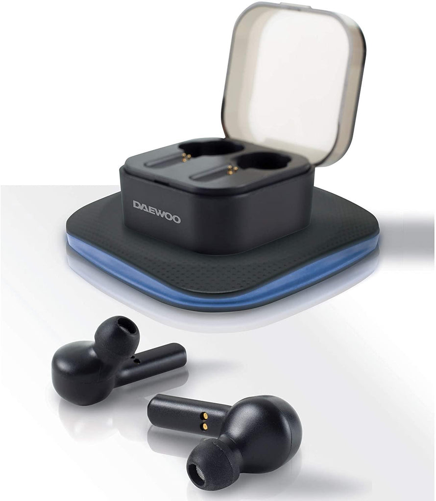 Wireless Air Buds with Charging Case and QI Wireless Charging Pad