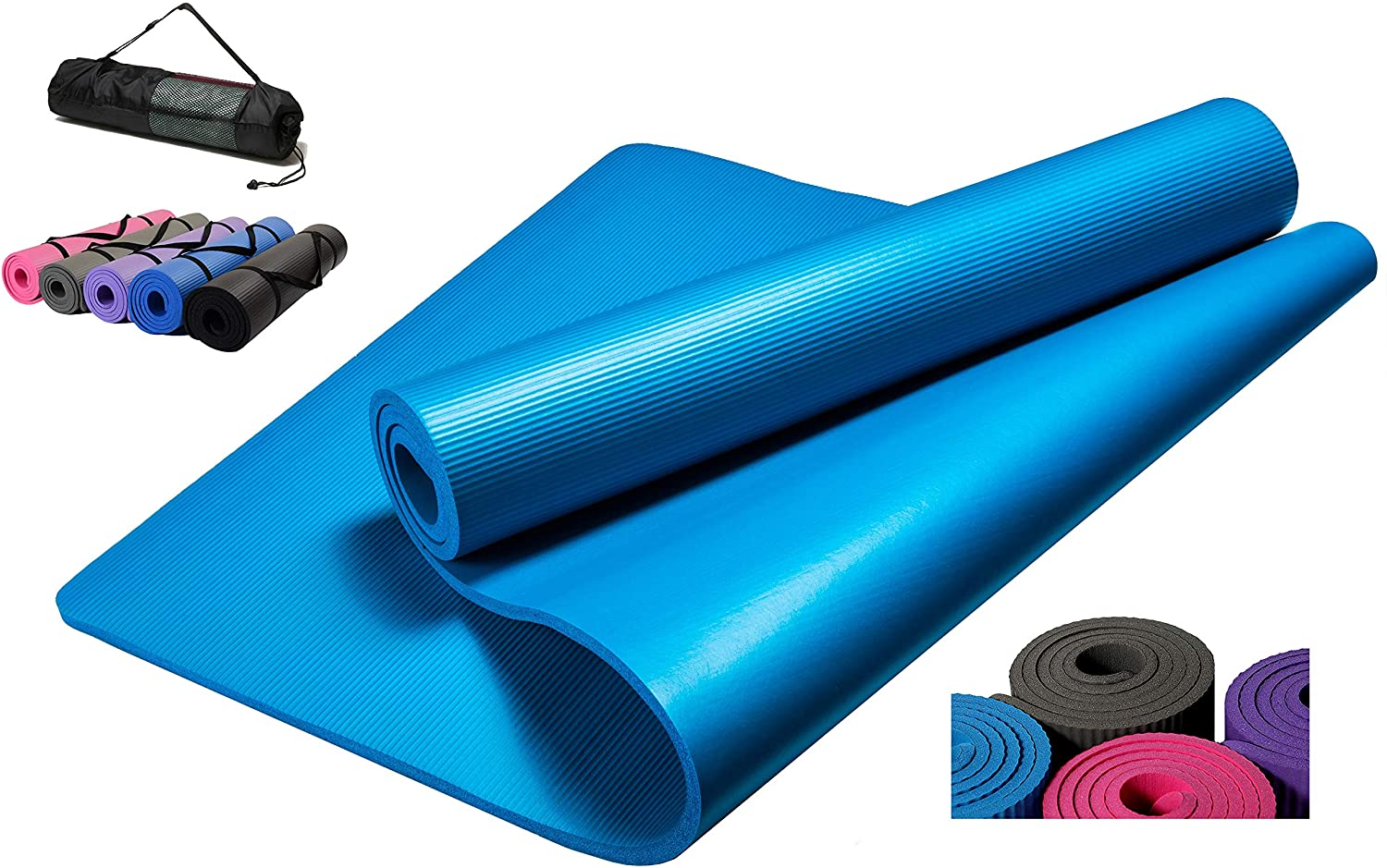 "Yoga Mat 1/4"" 6mm 10mm Eco Friendly Non Slip - smrt-life.com"