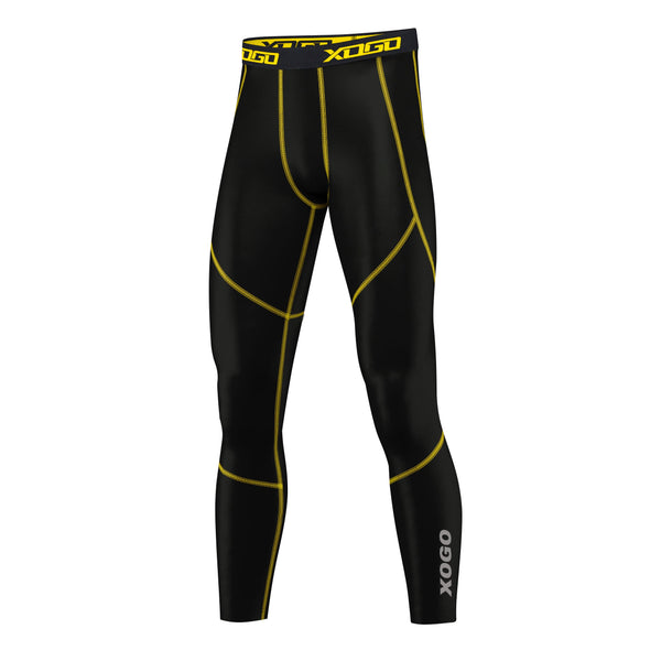 XOGO PERFORMANCE XP500 BASELAYER LEGGINGS - Black/Yellow - XOGO