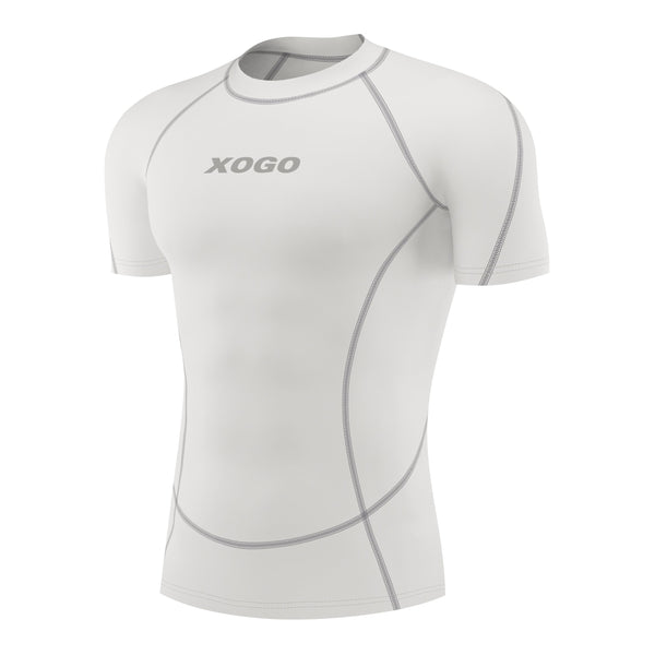 XOGO PERFORMANCE XP100 BASELAYER SHORT SLEEVES TOP - White - XOGO