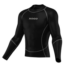 Load image into Gallery viewer, XOGO PERFORMANCE XP500 BASELAYER TOP - Black/Grey - XOGO