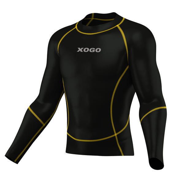 XOGO PERFORMANCE XP500 BASELAYER TOP - Black/Yellow - XOGO