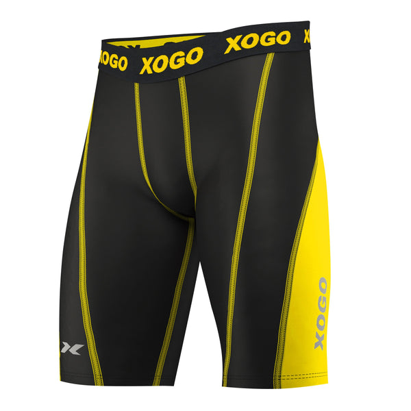 XOGO ESSENTIAL COMPRESSION SHORTS - Yellow