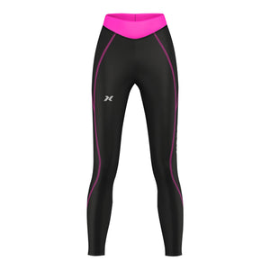 XOGO PERFORMANCE XP300  WOMEN'S BASELAYER LEGGINGS - Black/Pink - XOGO