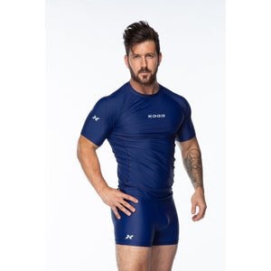 XOGO PERFORMANCE XP100 BASELAYER SHORT SLEEVES TOP - Navy Blue - XOGO