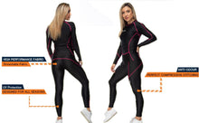 Load image into Gallery viewer, XOGO PERFORMANCE XP300  WOMEN'S BASELAYER LEGGINGS - Black/Pink - XOGO