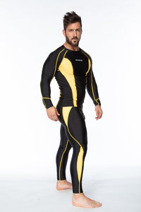 XOGO PERFORMANCE XP501 BASELAYERS LEGGINGS - Black/Yellow - XOGO