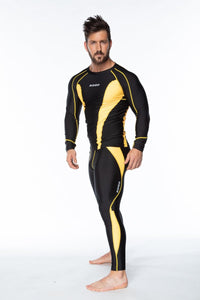 XOGO PERFORMANCE XP501 BASELAYERS TOP - Black/Yellow - XOGO