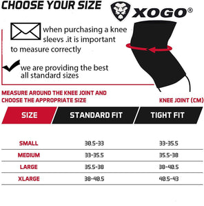 XOGO POWER KNEE SLEEVE 5MM - Black/Red - XOGO