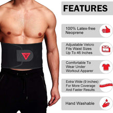 Load image into Gallery viewer, WAIST TRAINER SWEAT BELT - BLACK - XOGO