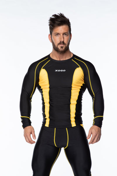 XOGO PERFORMANCE XP501 BASELAYERS TOP - Black/Yellow