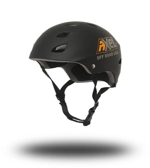 Trail Helmet by Axel Off Road is a long established ABS shell helmet with 17 cooling slots. The top layer of the soft padding can partially removed to conform the fit perfectly to your desired shape and comfort. Make sure its on-board when you go off-road! Offroaders all around the country trust AXEL Off Road helmets. There is nothing that outsmarts this light weight comfort focused protection when you hit the trails.