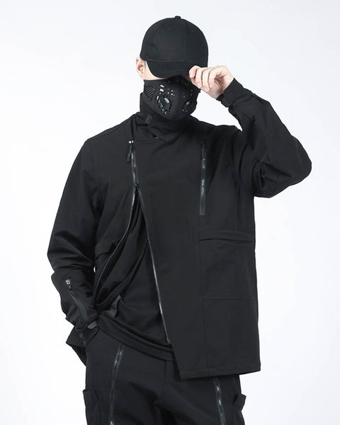 black techwear jacket