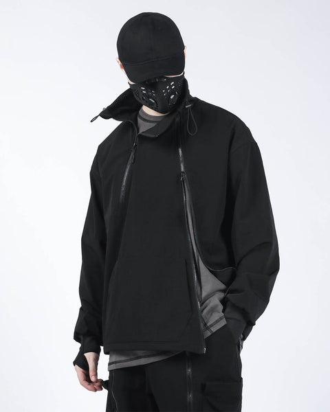 black tactical sweater