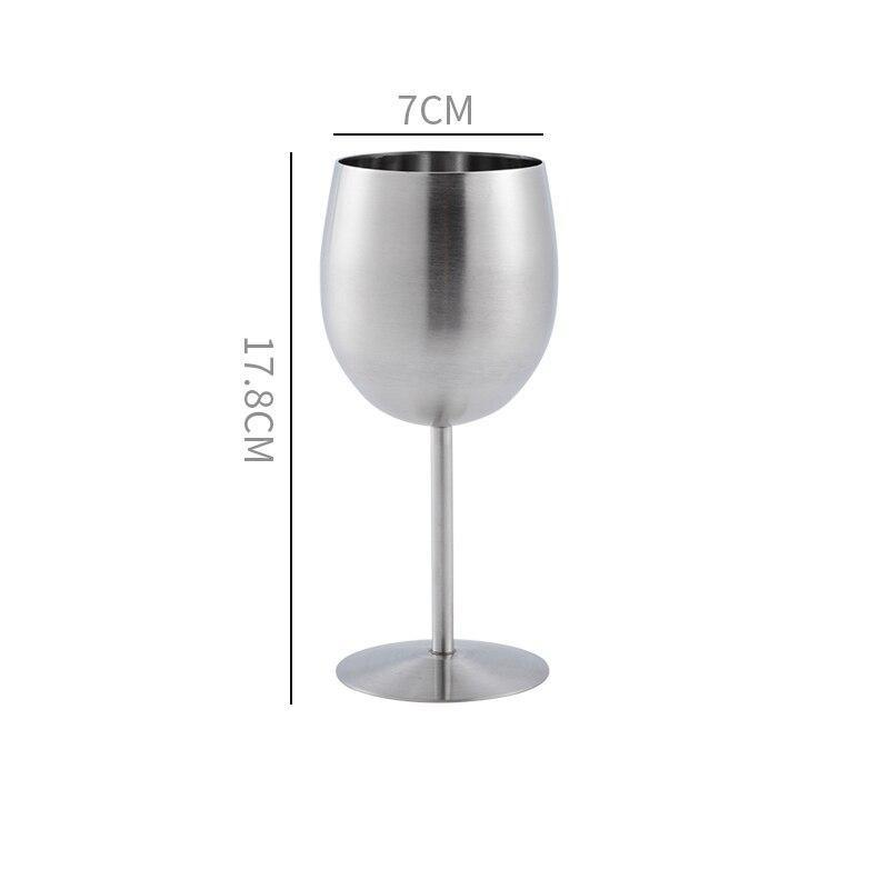 Verre à vin incassable <br> Inox <br> (400 ml)