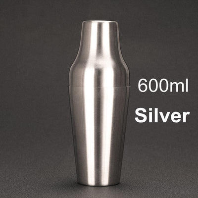 600ml Stainless Steel French Cocktail Shaker Classic and Elegant Bar Bartender Bar Tool Wine Shaker Cocktail Martini Mixer - Inox Ecologie