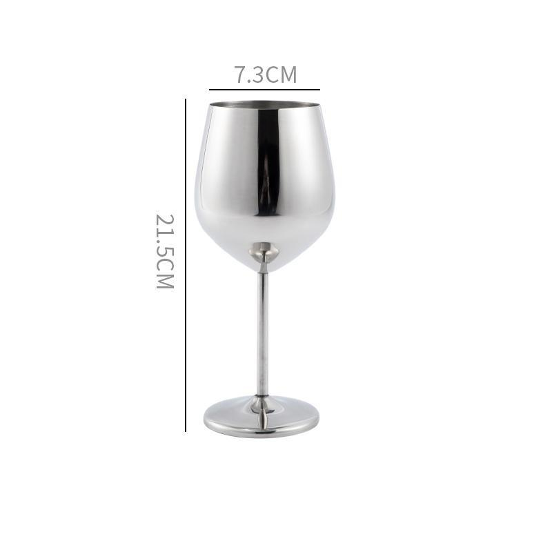 Verre à vin incassable <br> Inox <br> (500 ml)