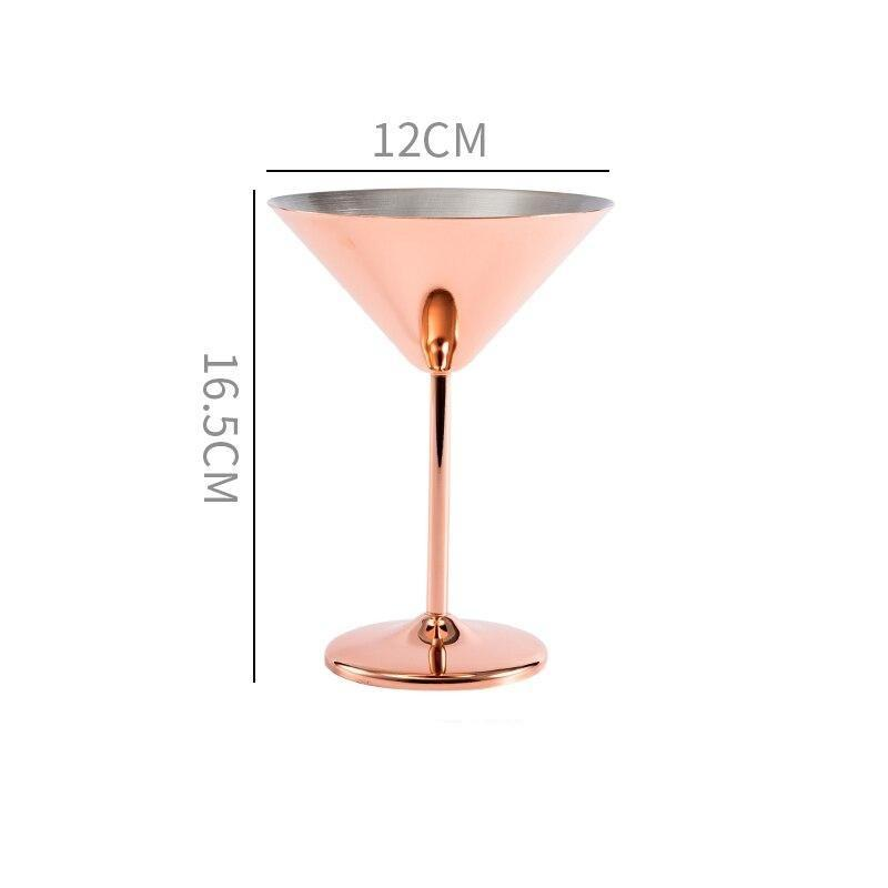 Verre à vin incassable <br> Inox Rose gold<br> (200 ml)