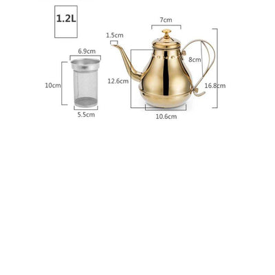 Grand théière inox  Gold 1.2L