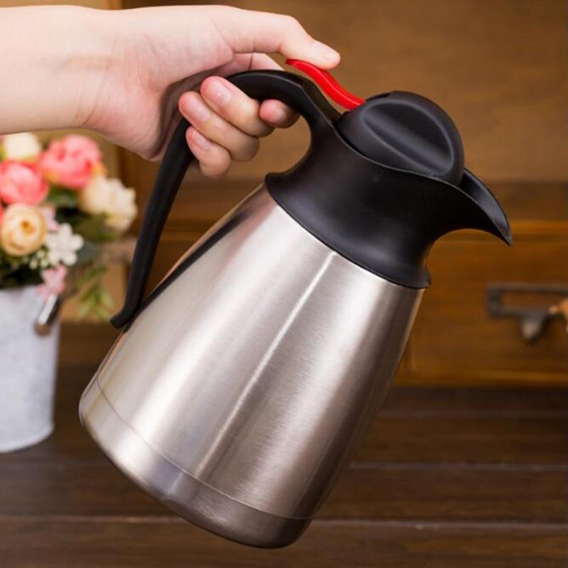 1.2L/1.5L/2L Stainless Steel Water Bottles Coffee Pot Thermal Carafe Insulation Vacuum Flask Kettles Jug Flask Water Kettle