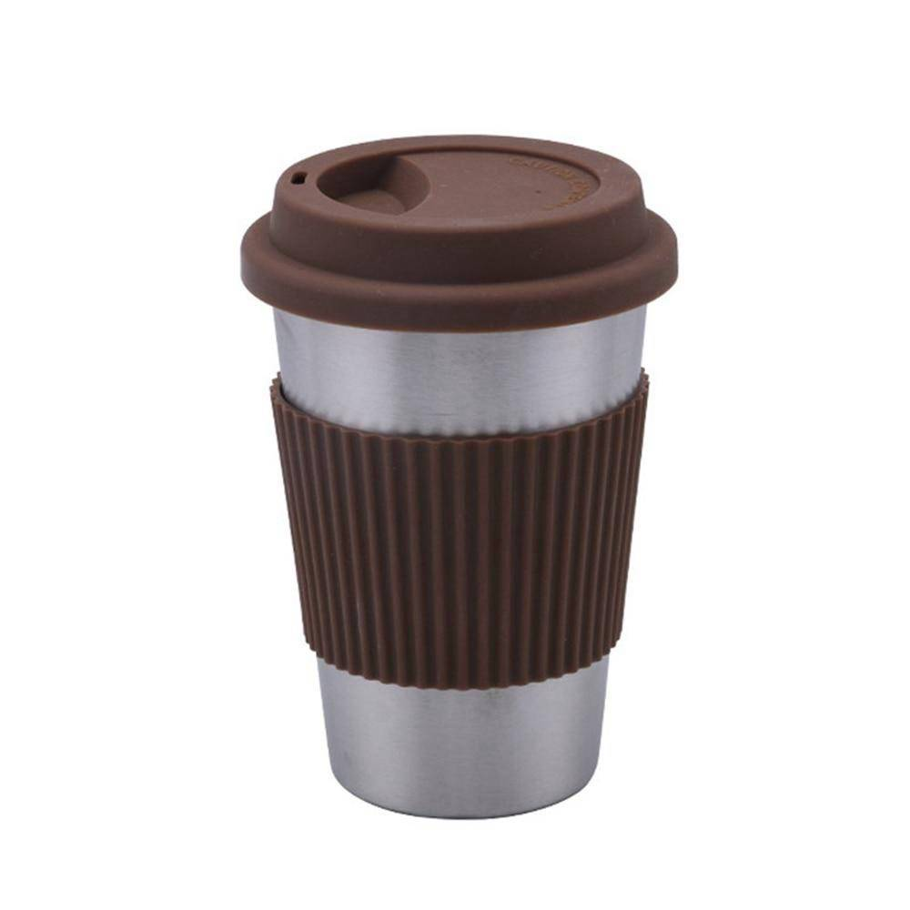 Mug isotherme <br> Avec couvercle 400 ml | Inox Ecologie