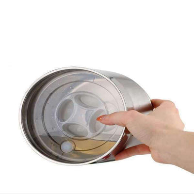 Tupperware inox <br> rond 2 compartiments - Inox Ecologie