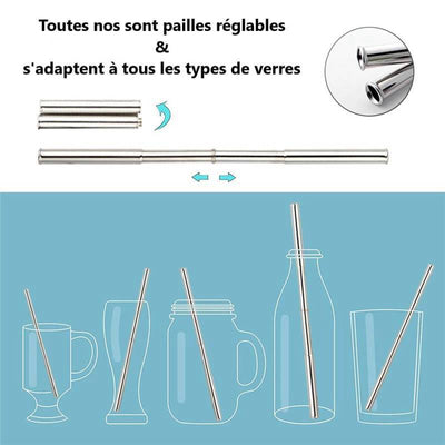 Paille pliable transportable