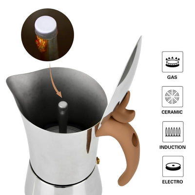 Cafetière italienne <br> Inox 8 personnes - Inox Ecologie
