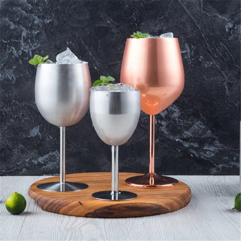 Verre à vin incassable <br> Inox <br> (250 ml)