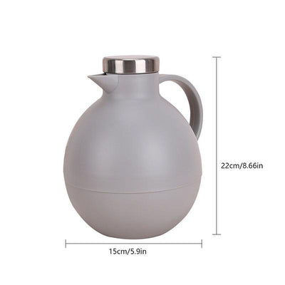 Thermos isotherme <br> Forme Boule 1 litre - Inox Ecologie