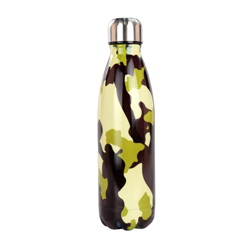 Bouteille inox <br> Motif militaire | Inox Ecologie