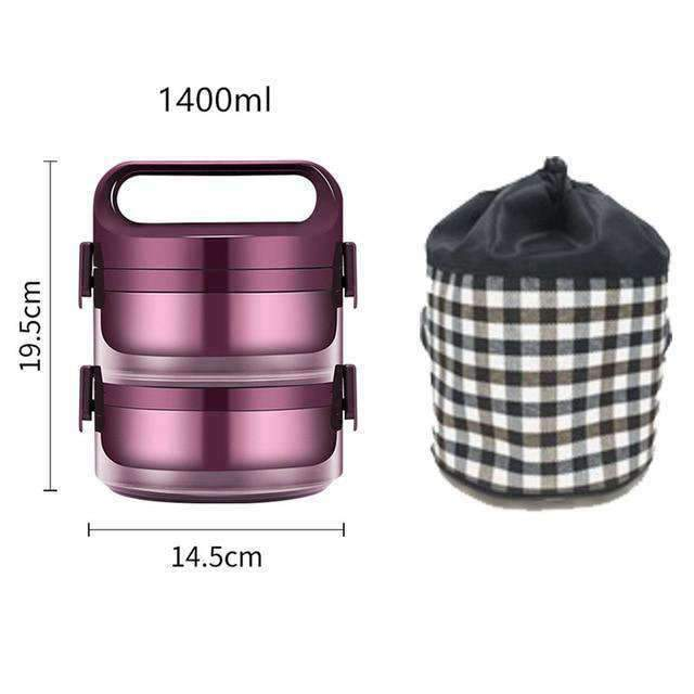 Lunch box chauffant  2 box + 1400 ml