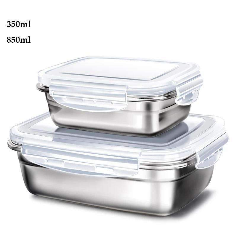 Lunch box inox <br> Lot de 2