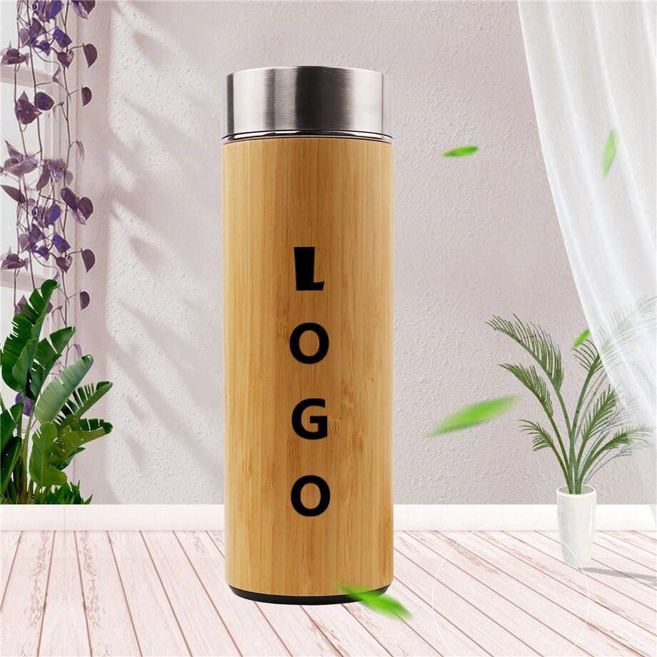 Thermos bambou <br> Personnalisable | Inox Ecologie