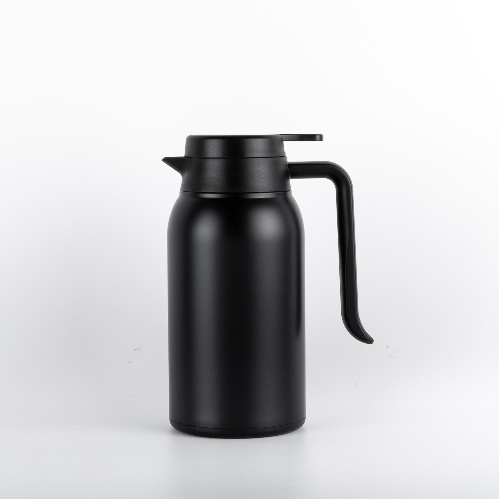Thermos isotherme <br> 1 litre noir | Inox Ecologie