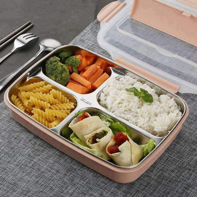 Tupperware Inox <br> 4 compartiments | Inox Ecologie