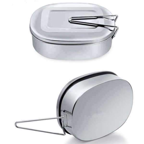 Tupperware inox <br> Rectangle 350 ml