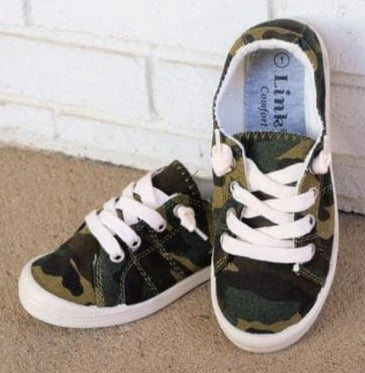 Kids Camo Lace Up Shoes