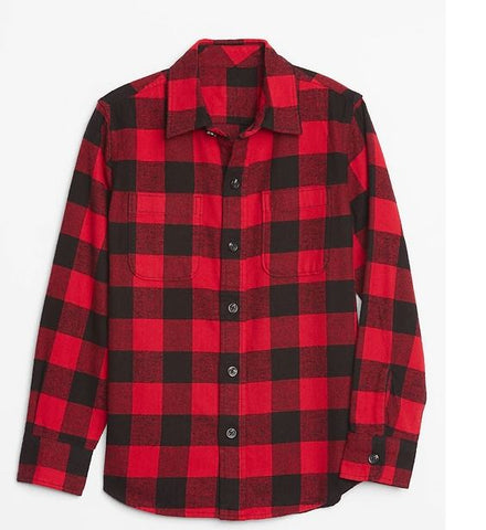 Plaid Kids Top