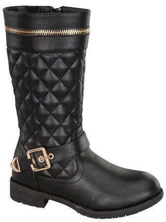 Quilted Kid Boots