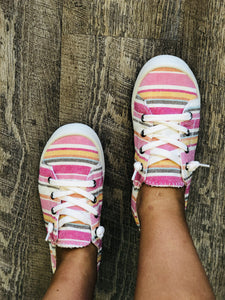 Sugar Stripe Lace Up