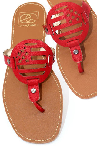 Ralls Red Sandals