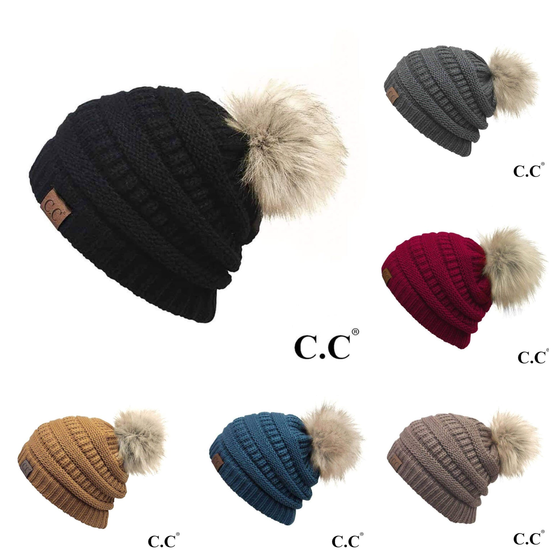 Adult Beanie with Puff