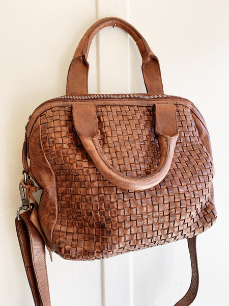 Cut n' Paste Woven Satchel