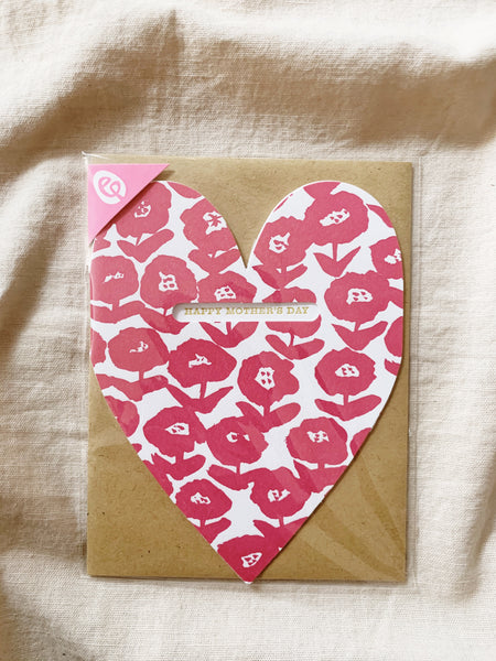 Mother's Day Heart Cutout Greeting Card