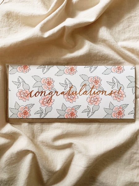 Congratulations Foil Stamped Greeting Card