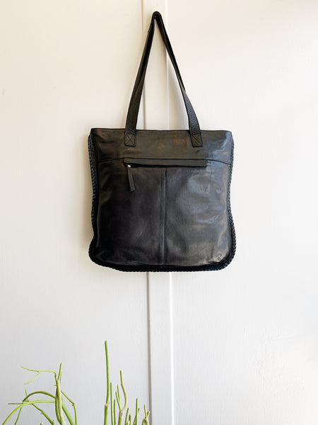 Latico Whip Stitch Leather Tote